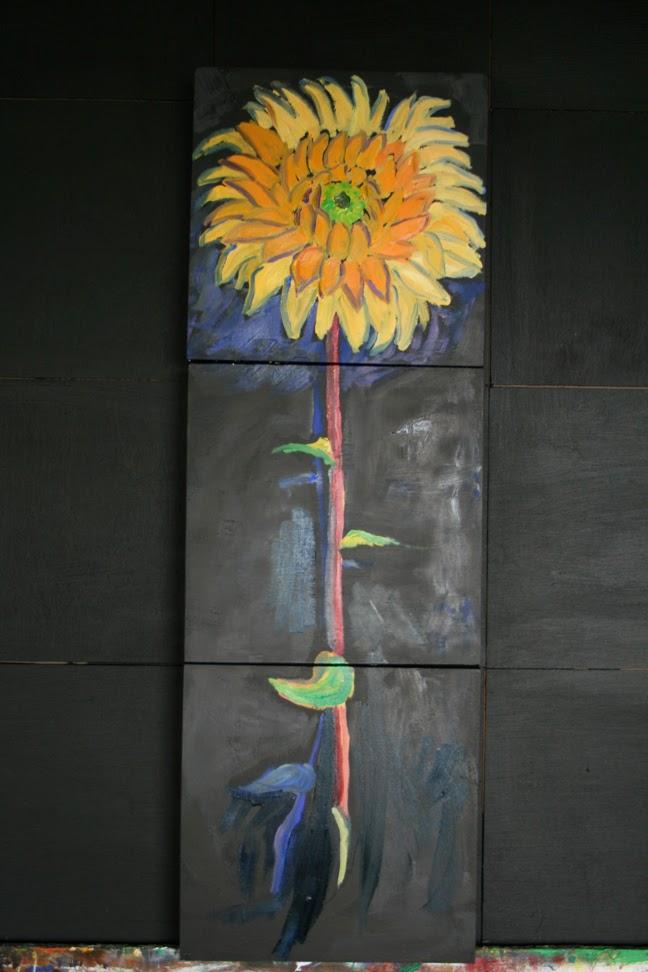 Dried Figure on Black Ground